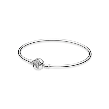 Silver bangle bracelet with cubic zirconia 590720CZ