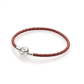 Pandora Red Braided Leather Charm Bracelet 590745CRD
