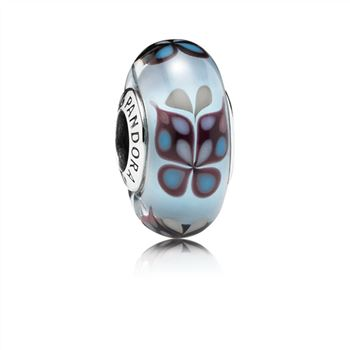 Butterfly Kisses Blue Glass Charm - PANDORA 791622