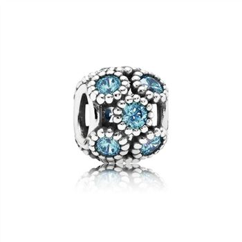 Pandora Studded Lights Charm, Teal CZ 791296MCZ