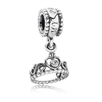 Pandora My Princess Dangle Charm, Clear CZ 791117CZ