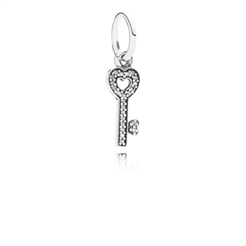 Symbol Of Trust Dangle Charm, Clear CZ 791353CZ