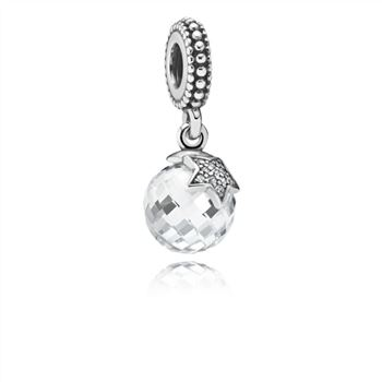 Light of the Moon Zirconia & Silver Hanging Charm - PANDORA 791392CZ