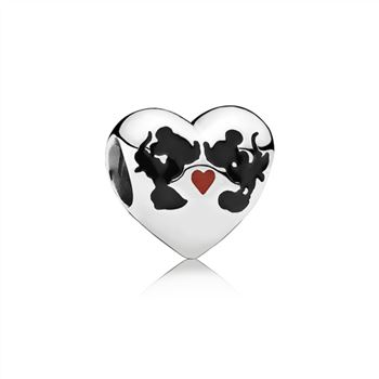 Pandora Disney, Minnie & Mickey Kiss Charm, Mixed Enamel 791443ENMX