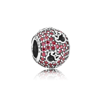 Disney, Minnie Silhouettes Charm, Red CZ 791584CZR