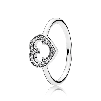 Disney, Mickey Silhouette Ring, Clear CZ 190957CZ